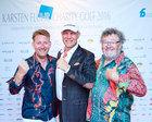 René König, Axel Schulz und Gregor-T. Kozik beim Karsten Fluhr Charity-Golf 2016
