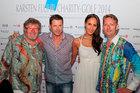 Gregor-T. Kozik, Bruno Eyron mit Lebensgefährtin und René König beim Karsten Flur Charity-Golf 2014