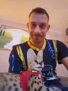 Radiomoderator Karsten Kolliski im Germens T-Shirt 002 Mondschwert