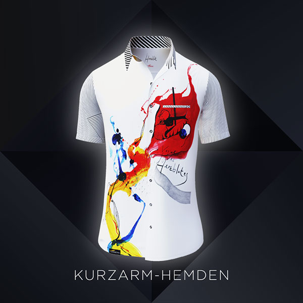 GERMENS colorful shirts for men - short sleeves
