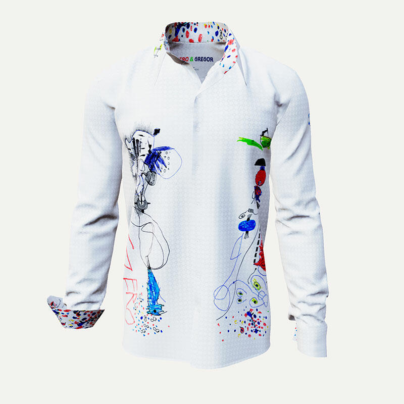 White designer shirt GERO + GREGOR by Germens