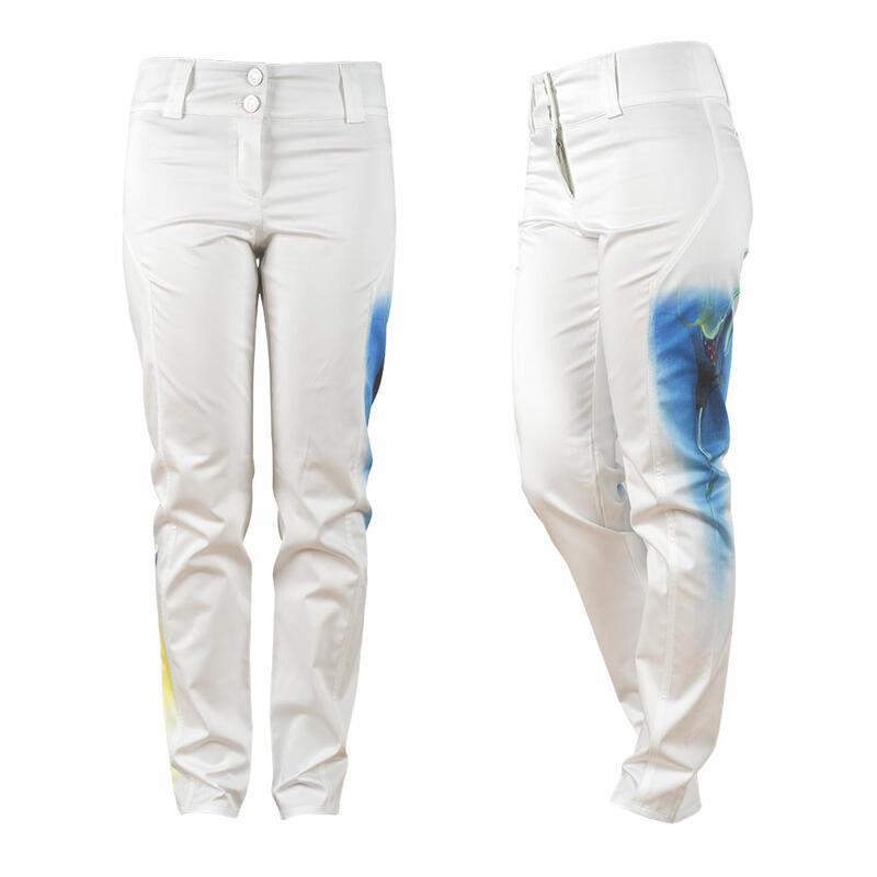 Beautiful white ladies pants ROMANTICA by Germens