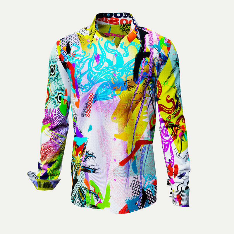 Colorful leisure shirt BOOM BOOM BOOM