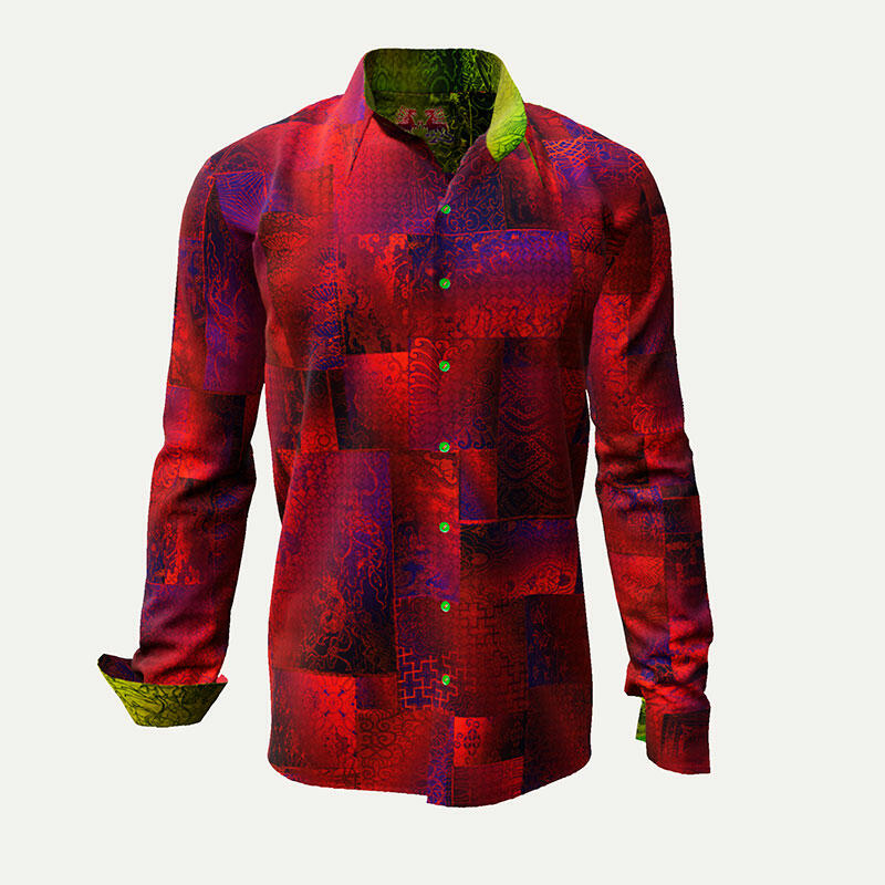 Red designer shirt DRACO by Germens