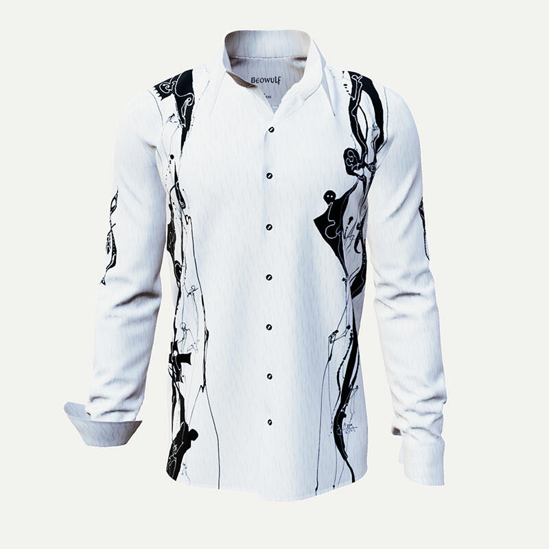 White designer shirt BEOWULF by Germens