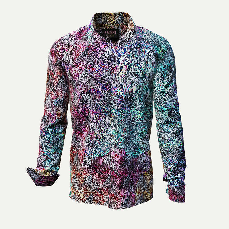 FRAXI MULTIPLE - Multi-colored spotted men´s shirt