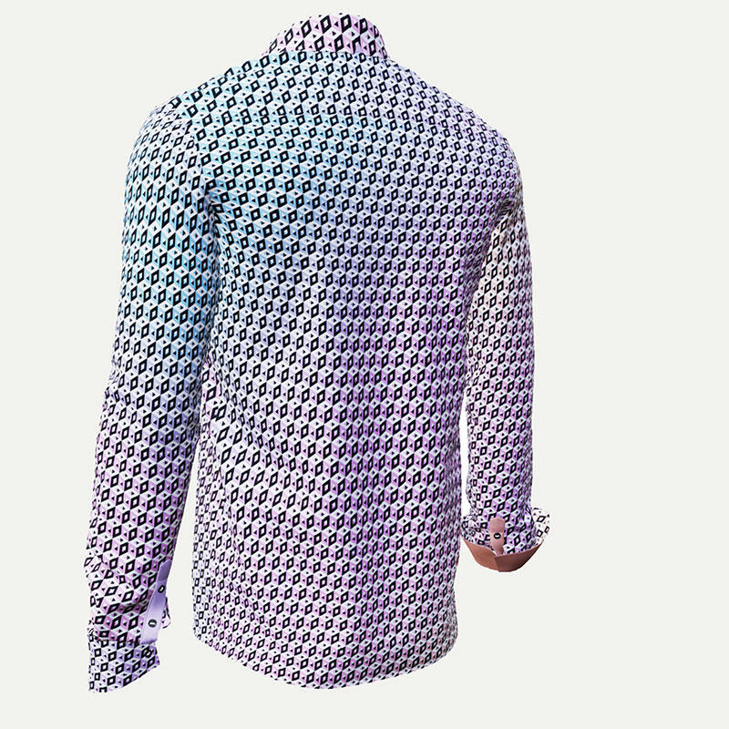 CUBO VIOL - Pink-blue pixelated leisure shirt