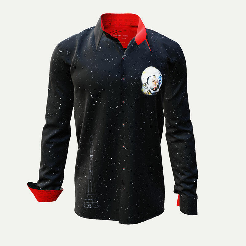 JURI GAGARIN - Black Red Cosmonaut Shirt