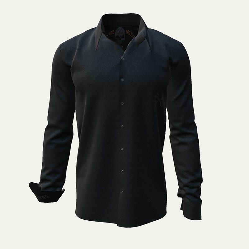 VINTAGE MOTORS - Black biker shirt
