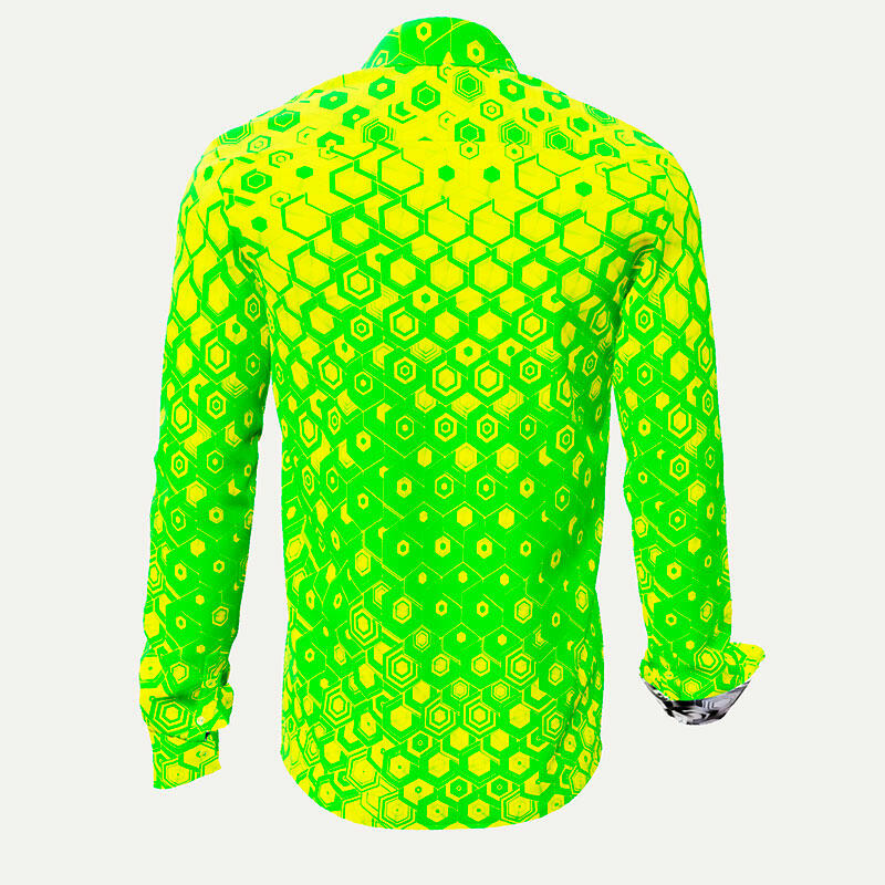 HEXAGON URANIO - Gren-yellow men´s shirt