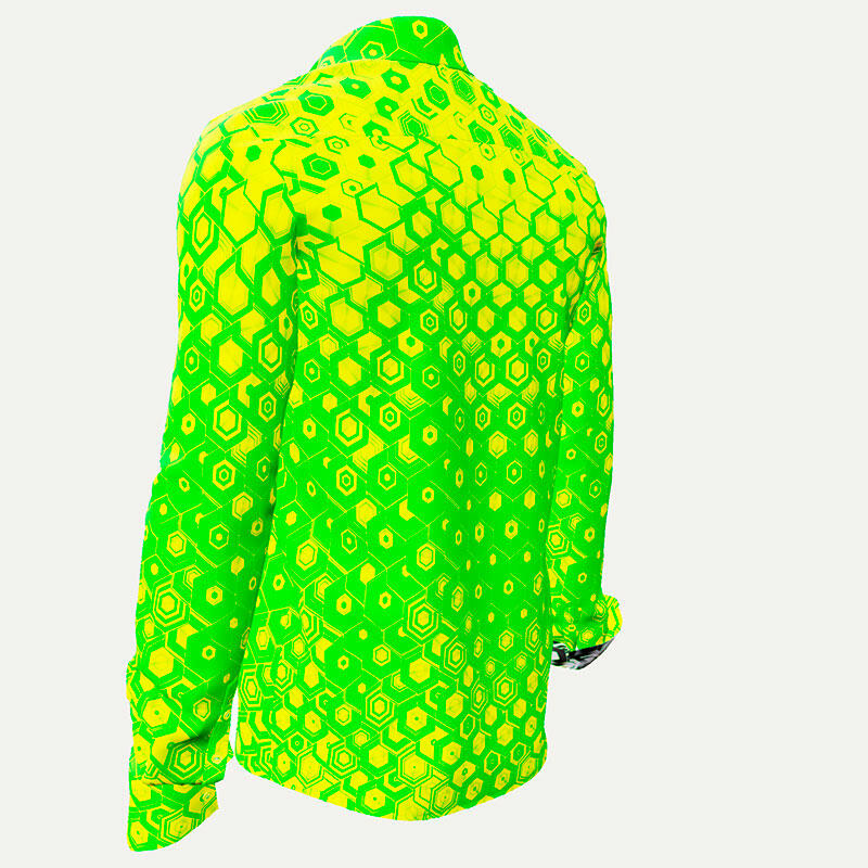 HEXAGON URANIO - Gren-yellow men´s shirt  - GERMENS