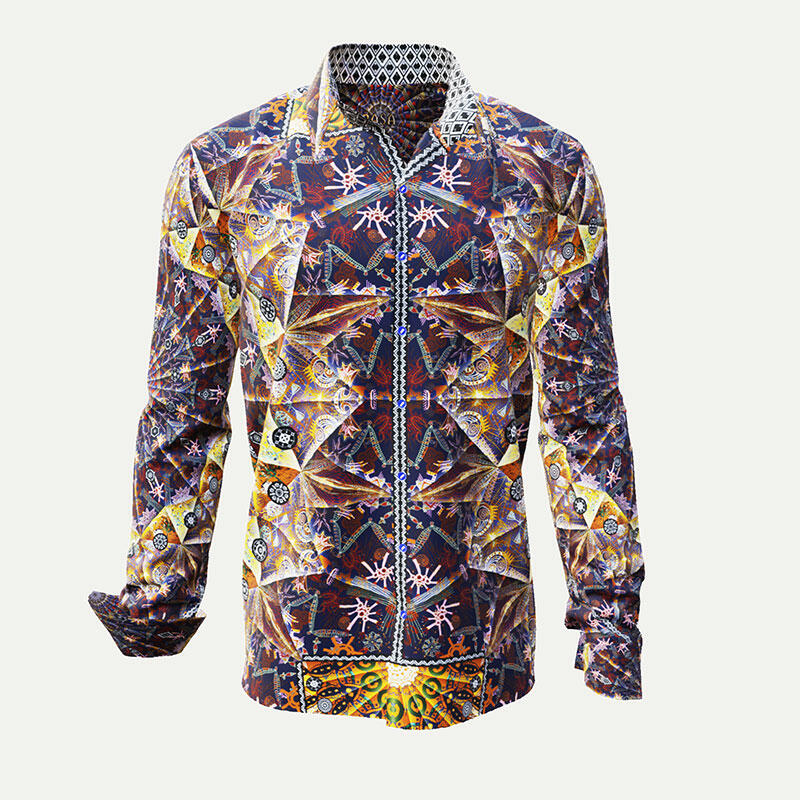 PASA - A noble shirt in warm golden colors and patterns