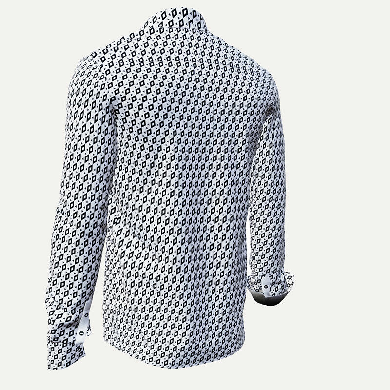 CUBO POLAR - Black and white pixelated leisure shirt