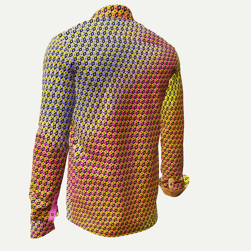 CUBO SUMMER - Colorfull men´s shirt in yellows and reds