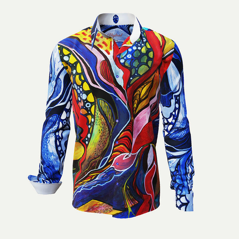 MYSTERIAL - A colorful shirt in organic structures