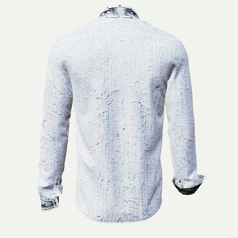 UNKNOWN PLEASURE - White men´s shirt with filigree details
