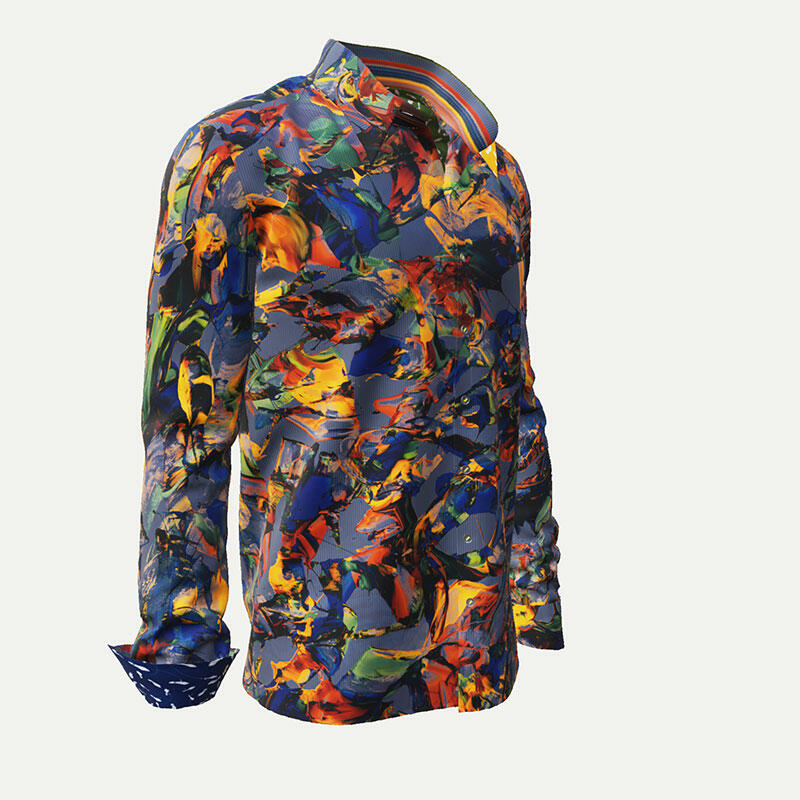 QUICK & SLOW - GERMENS Colorful casual shirt