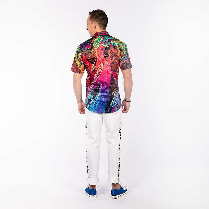 GALACTICO - Eye-catching short sleeve casual shirt - GERMENS