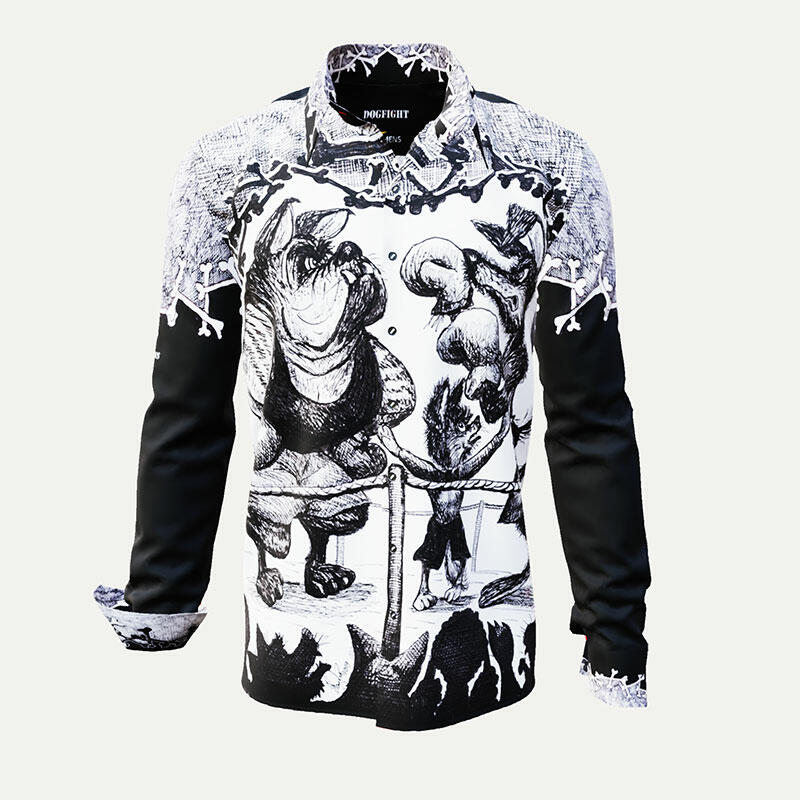 DOGFIGHT - Cool black and white shirt - GERMENS