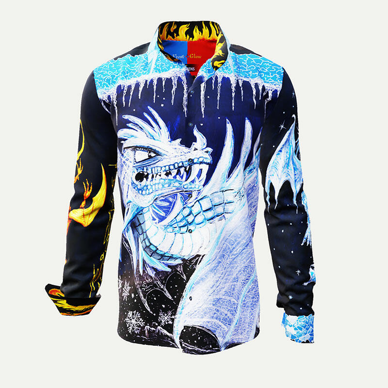FROST & GLOW - Illustrated shirt with dragon - GERMENS