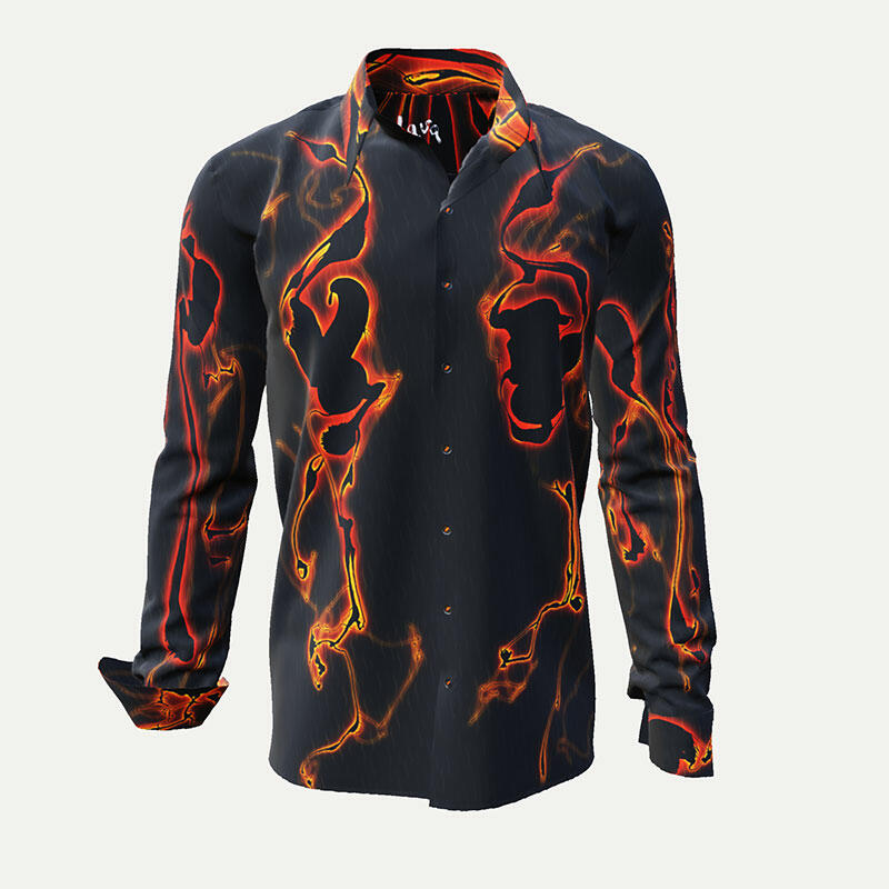 LAVA - Black leisure Germens men´s shirt