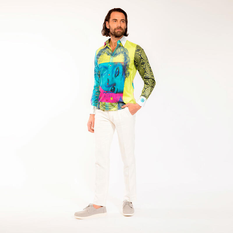PINK MARTINI - Colored party mens´s shirt  - GERMENS