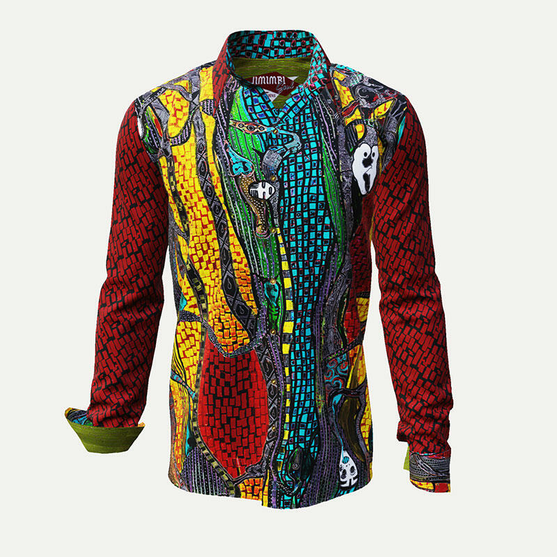 JIMIMBI SOUL - Exceptional shirt in warm colors
