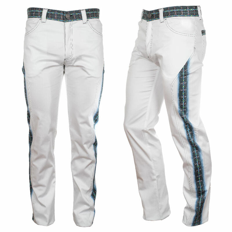 Extravagant white Men's trousers QUITLY