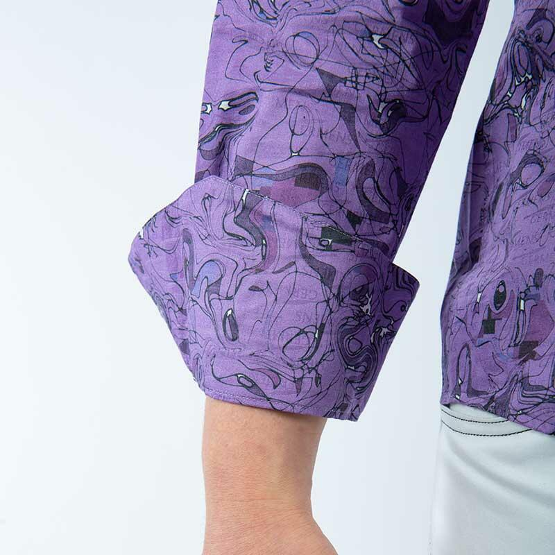 GRAVUR LILAS - Purple leisure shirt - GERMENS