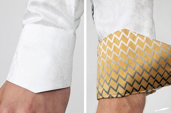 Die schrägen Sportmanschetten sind ein typisches Konfektionsdetail der GERMENS-Hemden