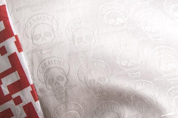 GERMENS-Hemd Totenkopf-Jacquard eingewebt in ägyptischer Baumwolle