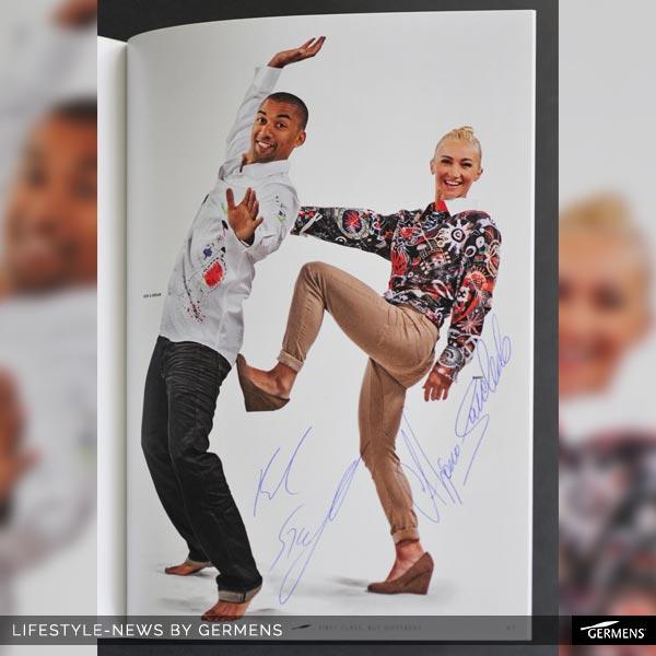 Aljona Savchenko und Robin Szolkowy standen beide 2013 für GERMENS Modeaufnahmen vor der Kamera