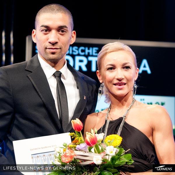 Aljona Savchenko und Robin Szolkowy wurden als Sportler des Jahres 2014 auf der Sächsischen Sportgala in Dresden ausgezeichnet.