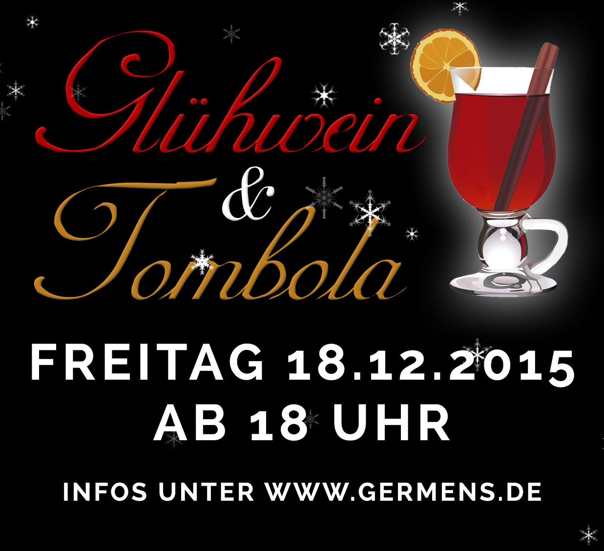 Glühwein & Tombola am 18.12.2015 im GERMENS Store & Lounge Chemnitz-Rabenstein