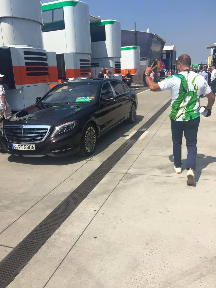 Kai Ebel im GERMENS T-Shirt STACHELHAUT während der Formel 1 in Budapest 2015