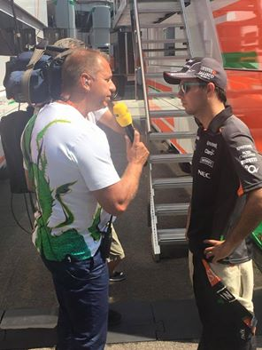 Kai Ebel im GERMENS Tshirt STACHELHAUT während der Formel 1 in Budapest 2015