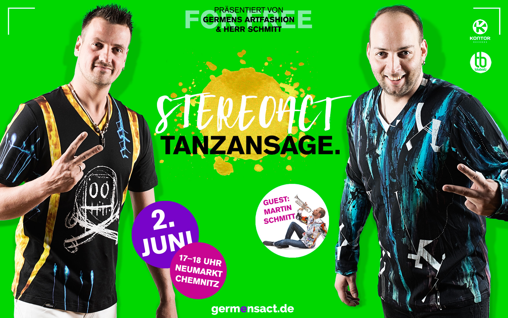 Stereoact live in Chemnitz Neumarkt am 2. Juni 2016