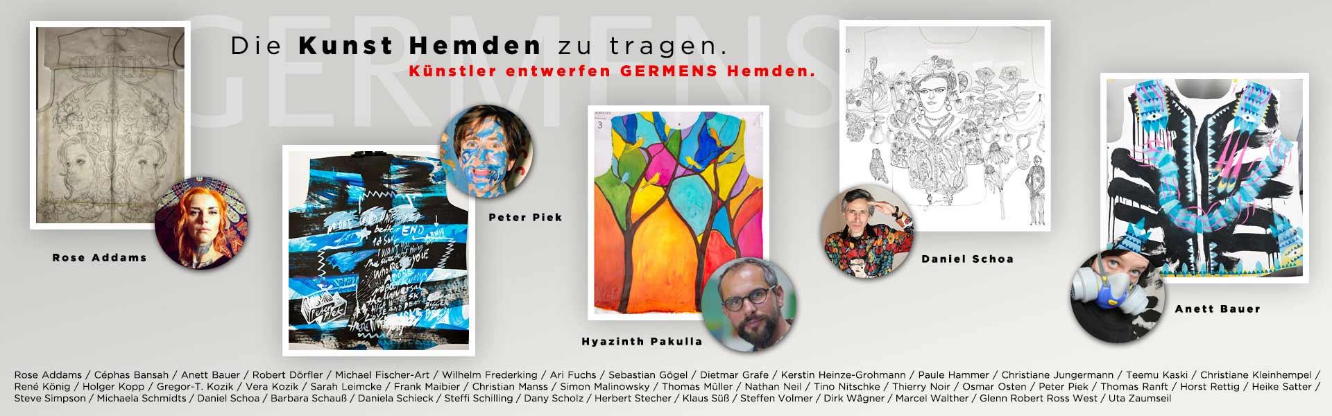 Künstler entwerfen GERMENS Hemden