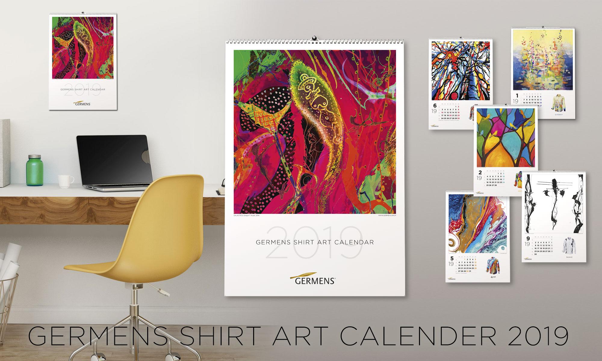 GERMENS shirt art calendar 2019